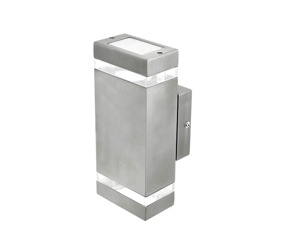 3A Rectangular Up & Down Wall Light Stainless Steel