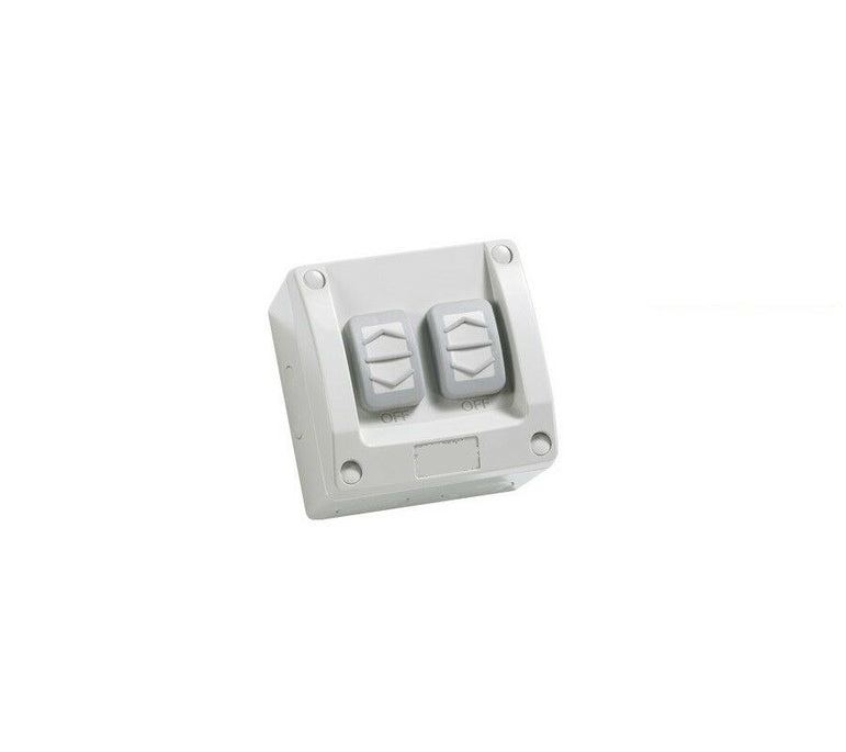 3A AU Double Weatherproof Light Switch