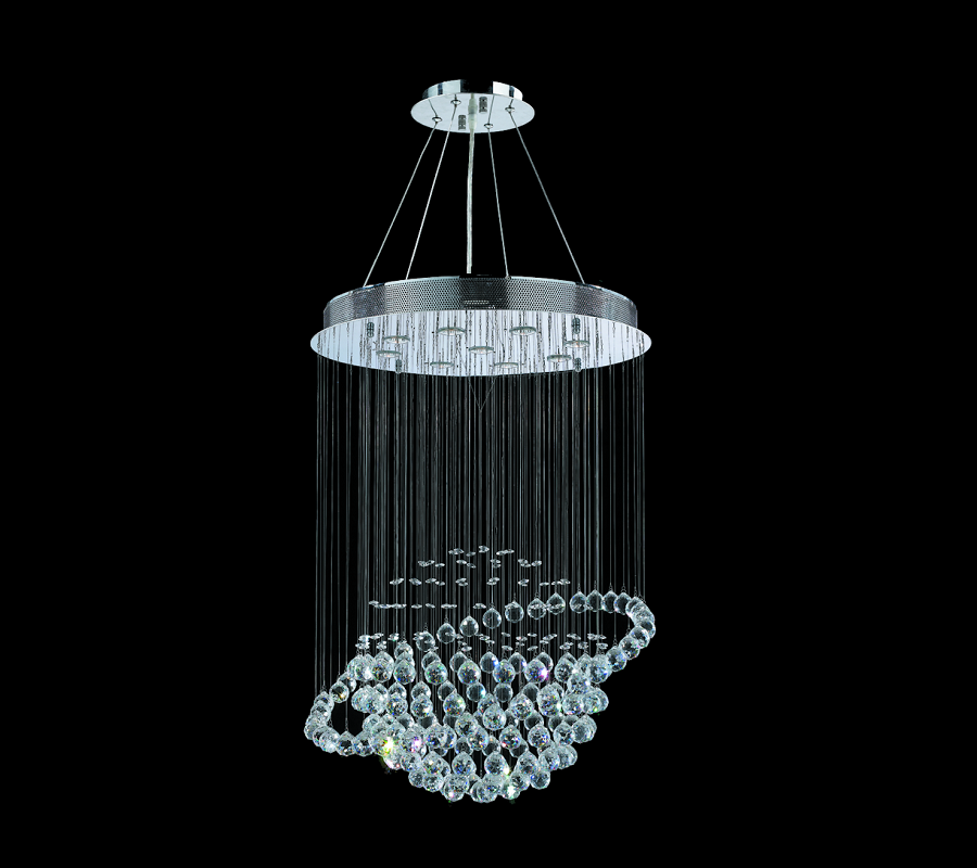 K9 Crystal Saturn Chandelier