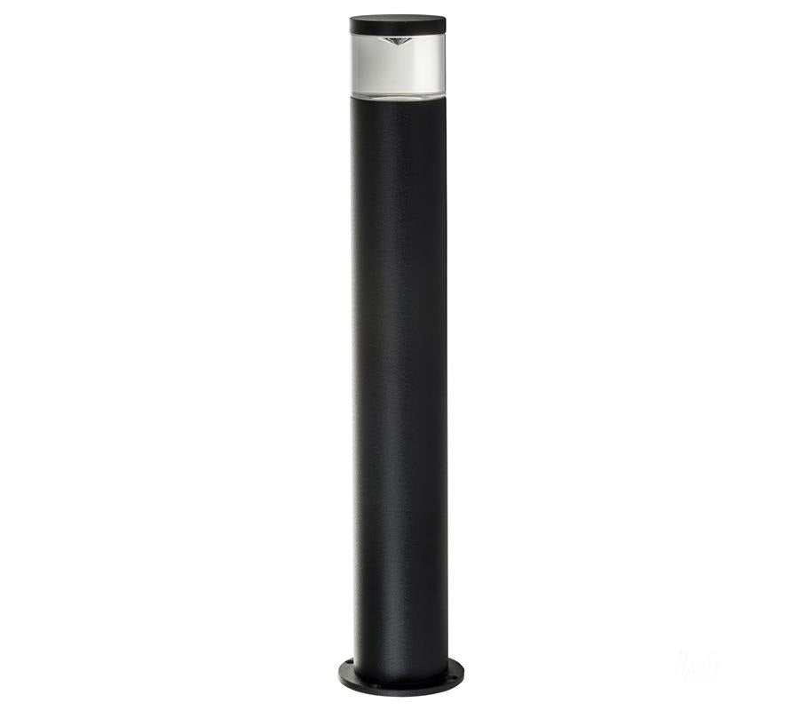 3A ST Cylinder LED Bollard Light 445mm Black