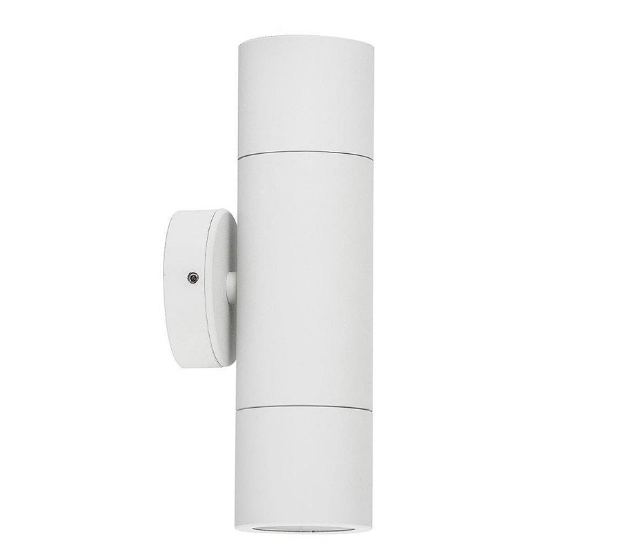 3A Cylinder Up & Down Wall Light White