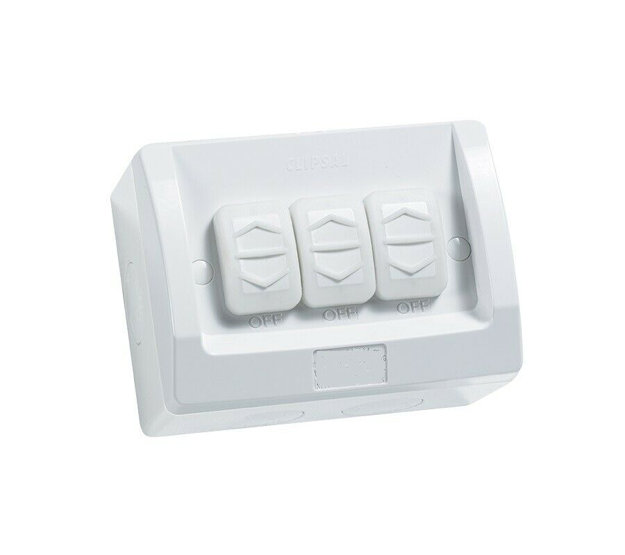 3A AU Triple Weatherproof Light Switch