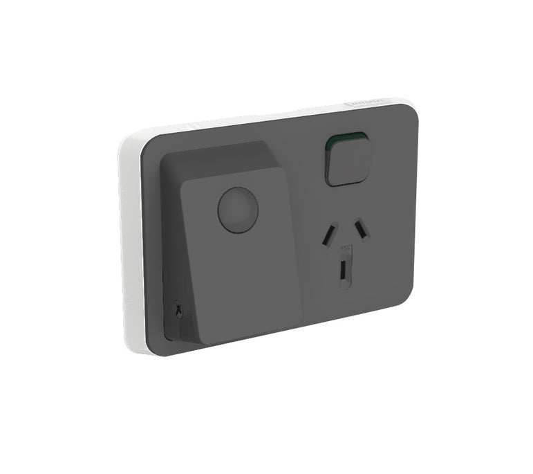 CLIPSAL Iconic Switch Series Anthracite Skin Only