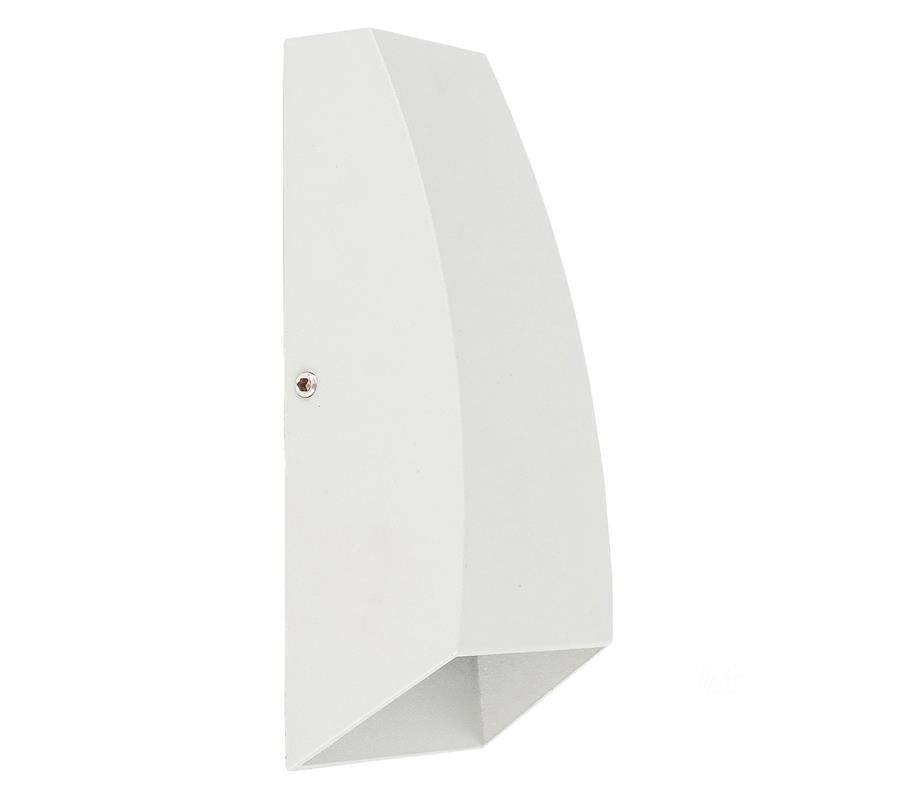 3A Curve Up & Down Wall Light White