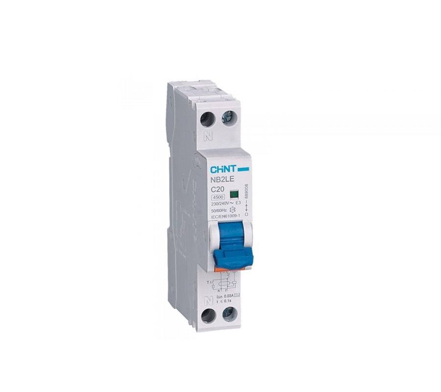 CHINT 1 Pole RCD RCBO 4.5kA