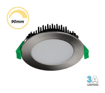 3A 13W LED Dimmable Downlight CCT Flush Brushed Chrome DL1560BC