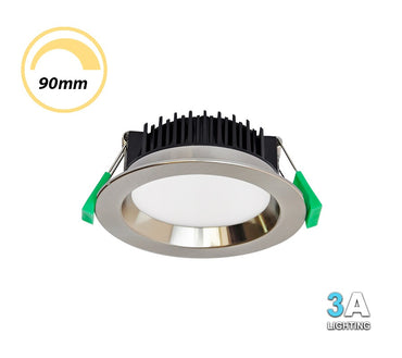 3A 13W LED Dimmable Downlight CCT Recessed Brushed Chrome DL1570BC