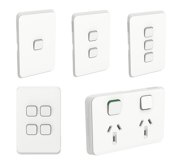 CLIPSAL Iconic Switch Series White