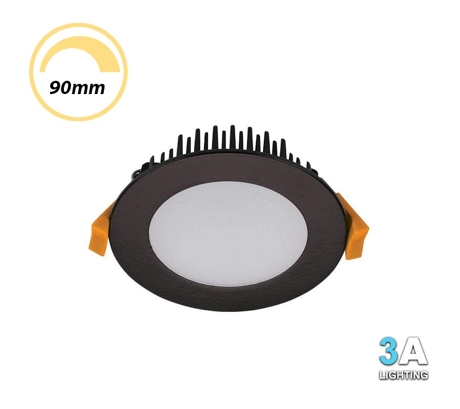 3A 13W LED Dimmable Downlight CCT Flush Black DL1560BK