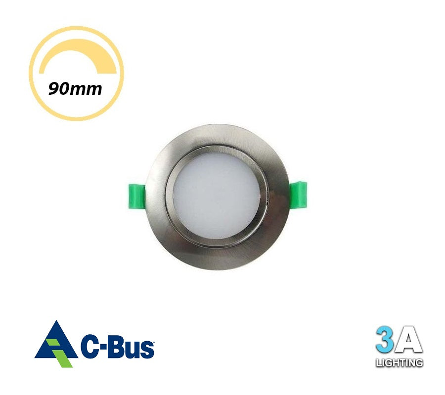 3A 15W LED Gimlbe Dimmable Downlight Chrome Samsung Chip