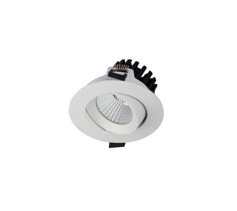 3A 10W LED COB Gimble Dimmable Downlight Recessed White