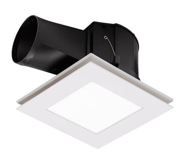 Martec Flow Square Bathroom Exhaust Fan & Light