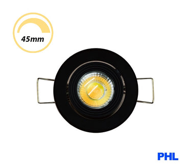 PHL 3W LED Gimble Cabinet Downlight CCT Black