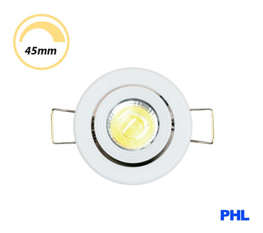 PHL 3W LED Gimble Cabinet Downlight CCT White