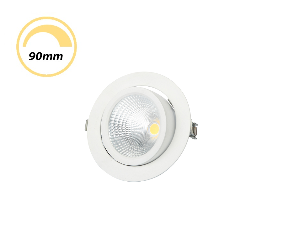 QZAO 12W LED COB Gimble Dimmable Downlight Recessed Black