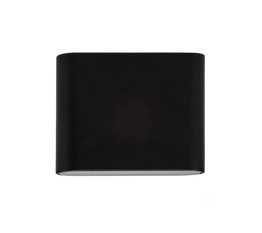 3A Small Slim Up & Down Wall Light Black