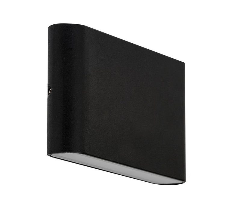 3A Large Slim Up & Down Wall Light Black