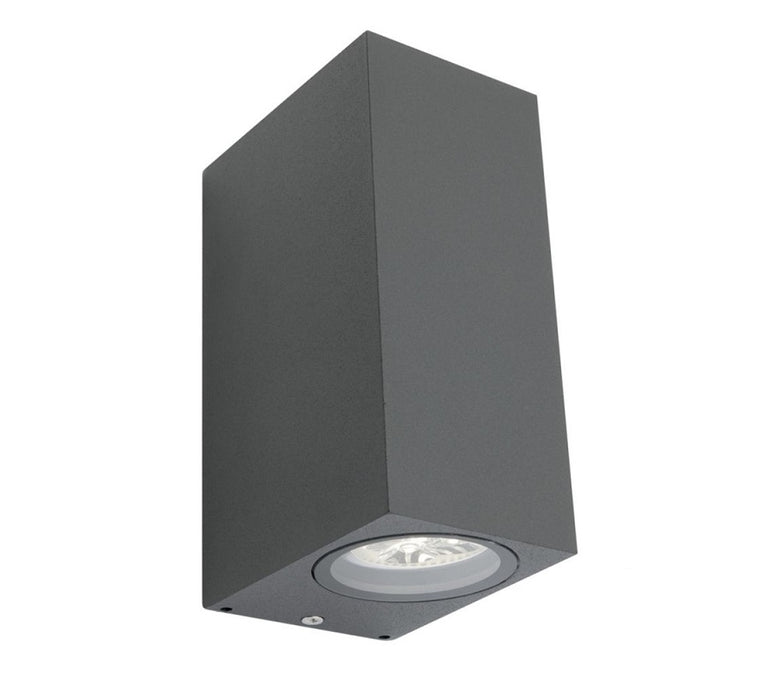 3A Oblong Up & Down Wall Light Black