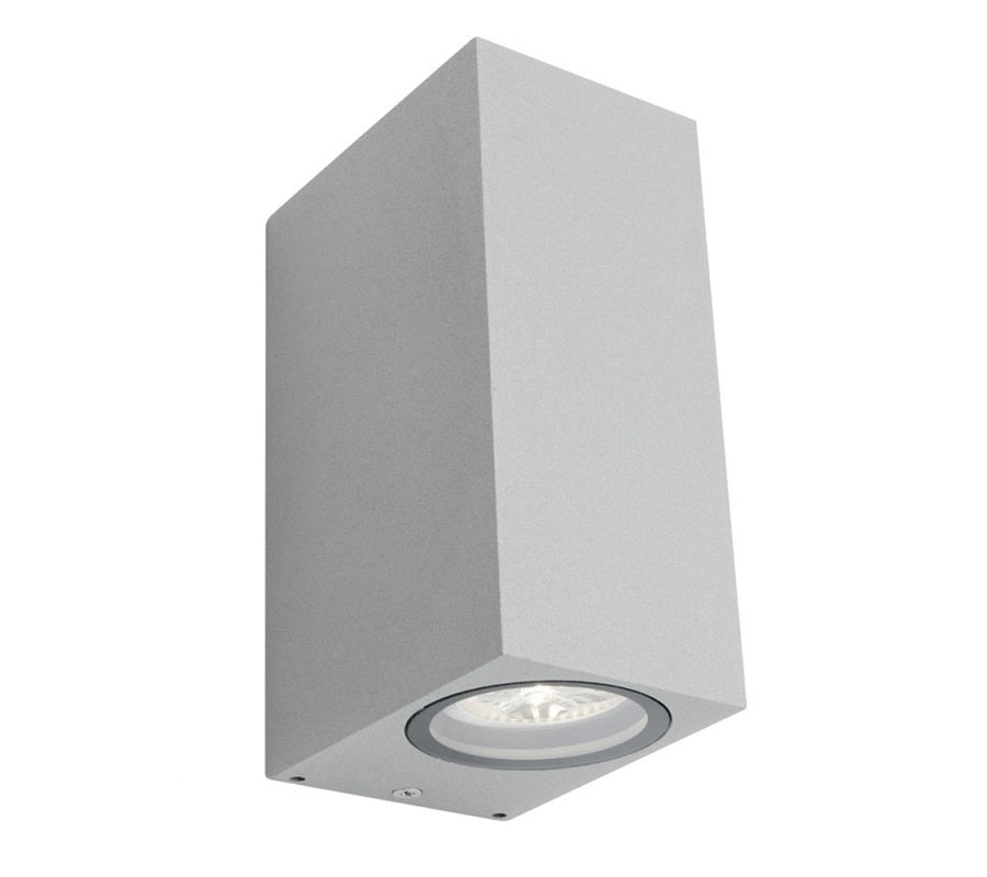 3A Oblong Up & Down Wall Light Silver