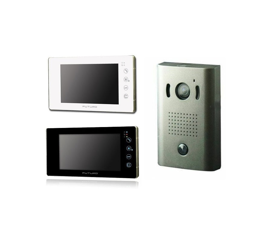 Futuro 4 Wire Video Intercom Kit Flush Mount