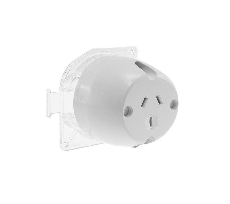 Surface Socket Plug Base 10 Amp