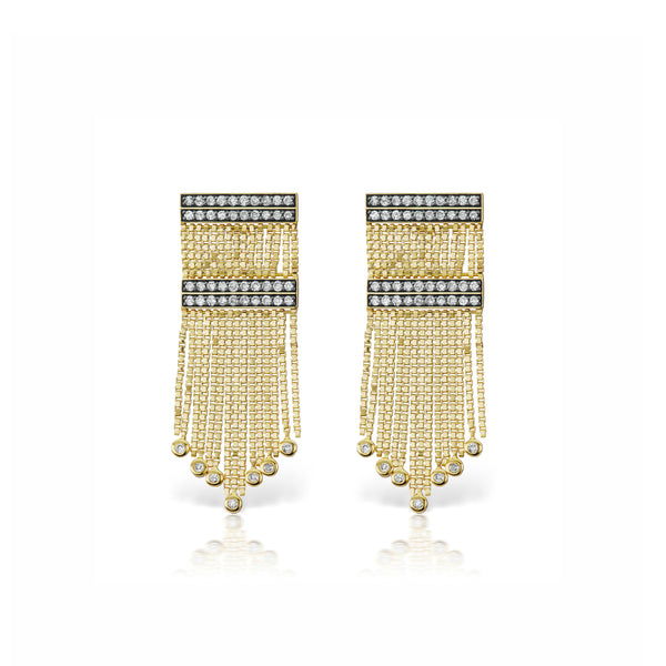 Axl Double Row Fringe Catana Earrings