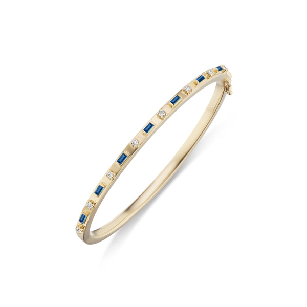 Baguette and Diamond Bangle