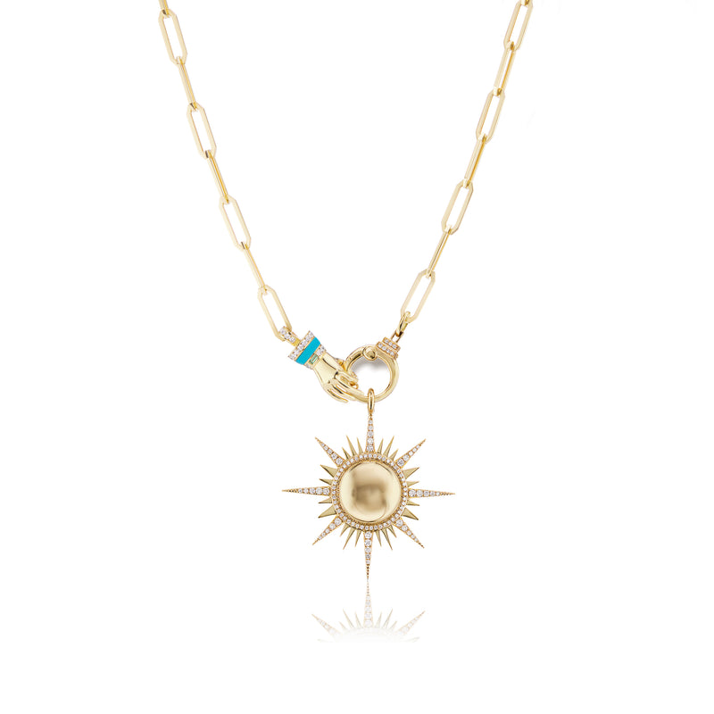 Il Sole Pendant on Hand Chain