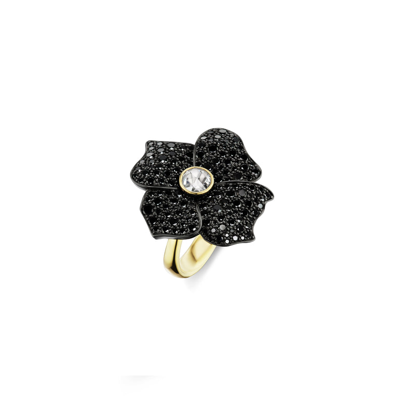 Hail Storm Single Flower Ring