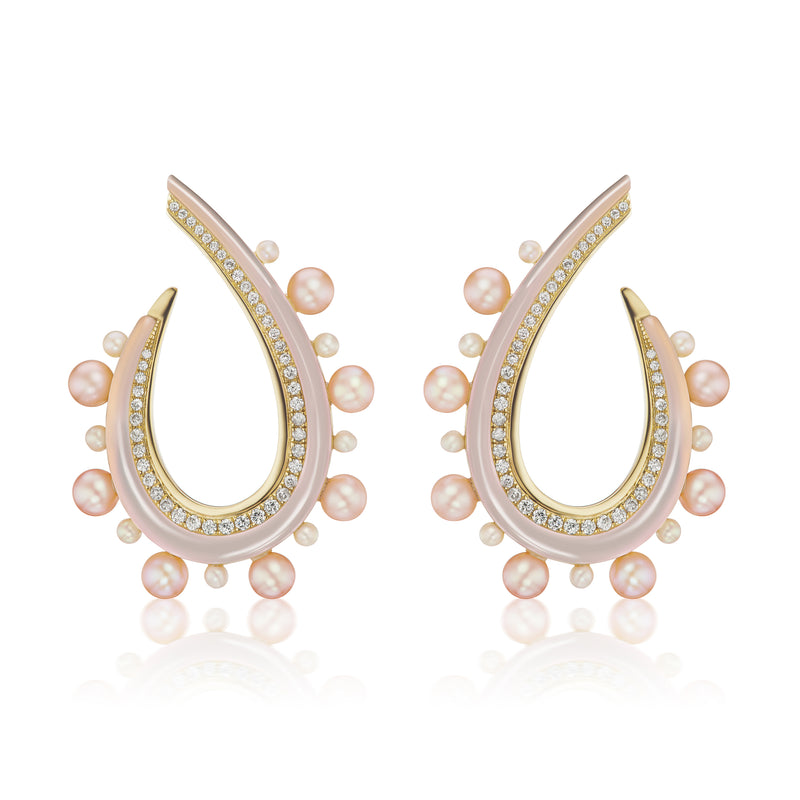 Pavona Crescent Earrings
