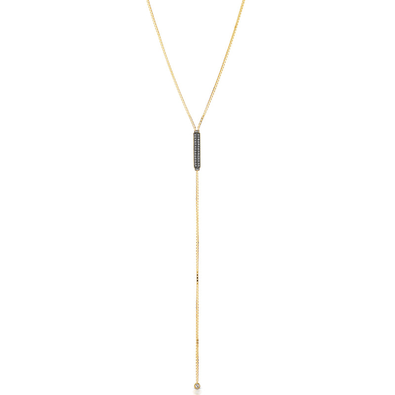 Otto Pave Lariat Necklace