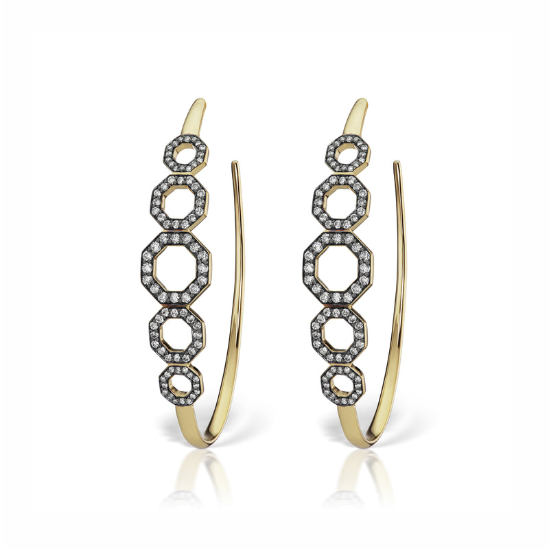 Otto Vertical Hoop Earrings