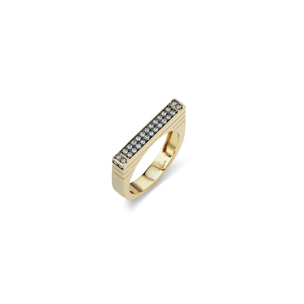 Pave Stacking Bar Ring