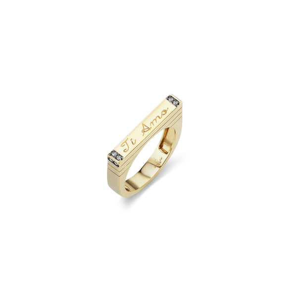 Ti Amo Stacking Bar Ring