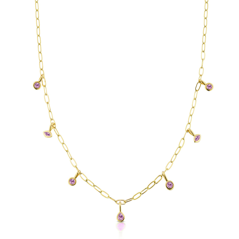 Monroe Multi-Shape Bezel Necklace