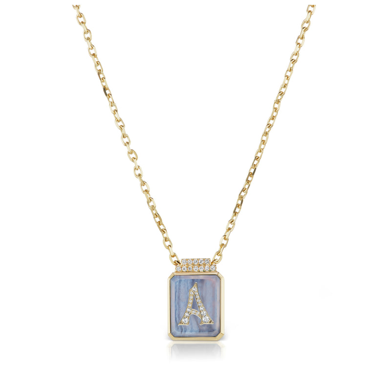 Initial Signet Necklace
