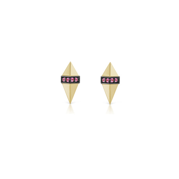 Solid Gold Pietra Studs
