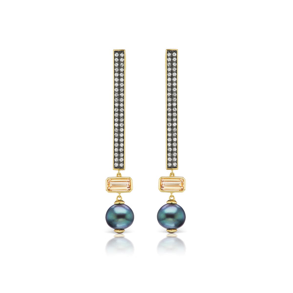 Stx & Stone Pave Diamond Earrings