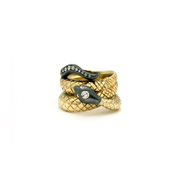 Victoria Serpent Ring in Diamonds