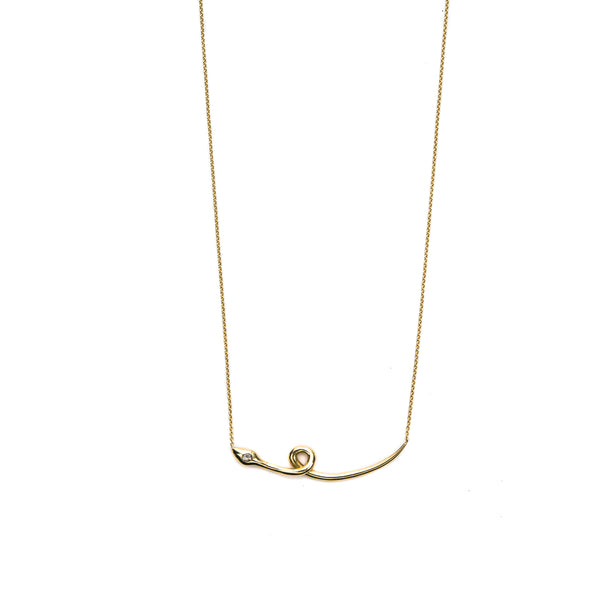 Victoria Serpente Bar Necklace