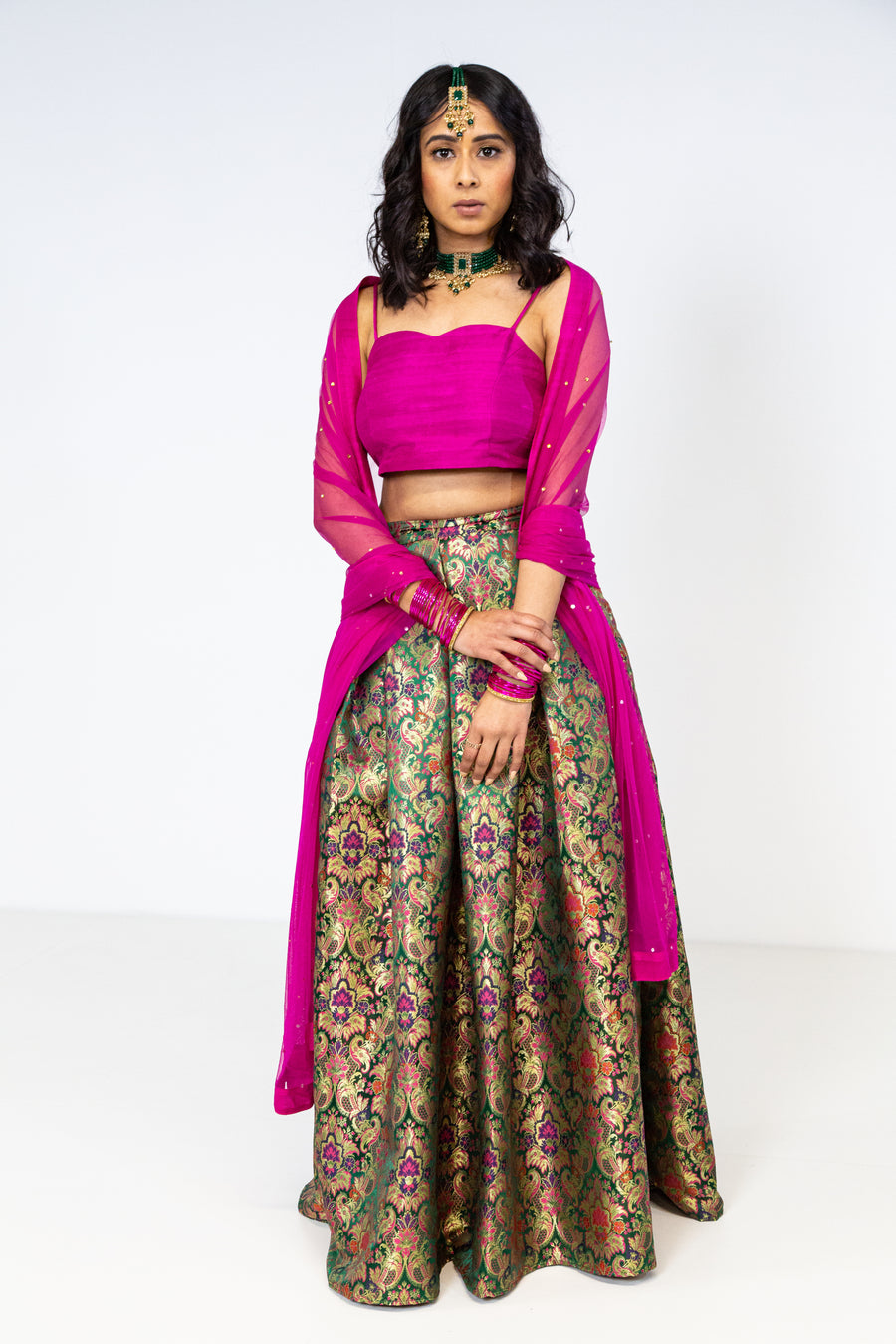 RAKSHA DARK PINK SET - FULL