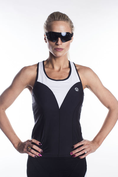 """Raquel"" Tri Tank with White front  Panels"
