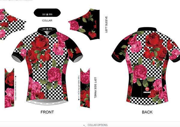 Roses are Red...(and pink) Cycling Jersey