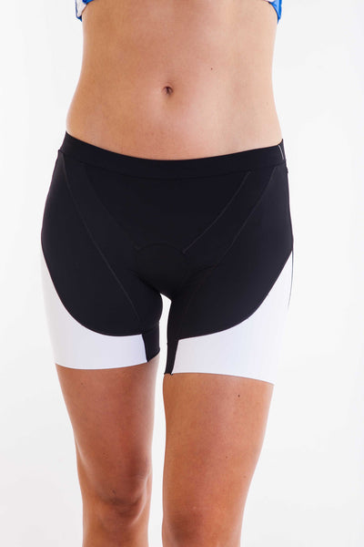 Tessa Ultimate Tri Short-5 inch- Black/White