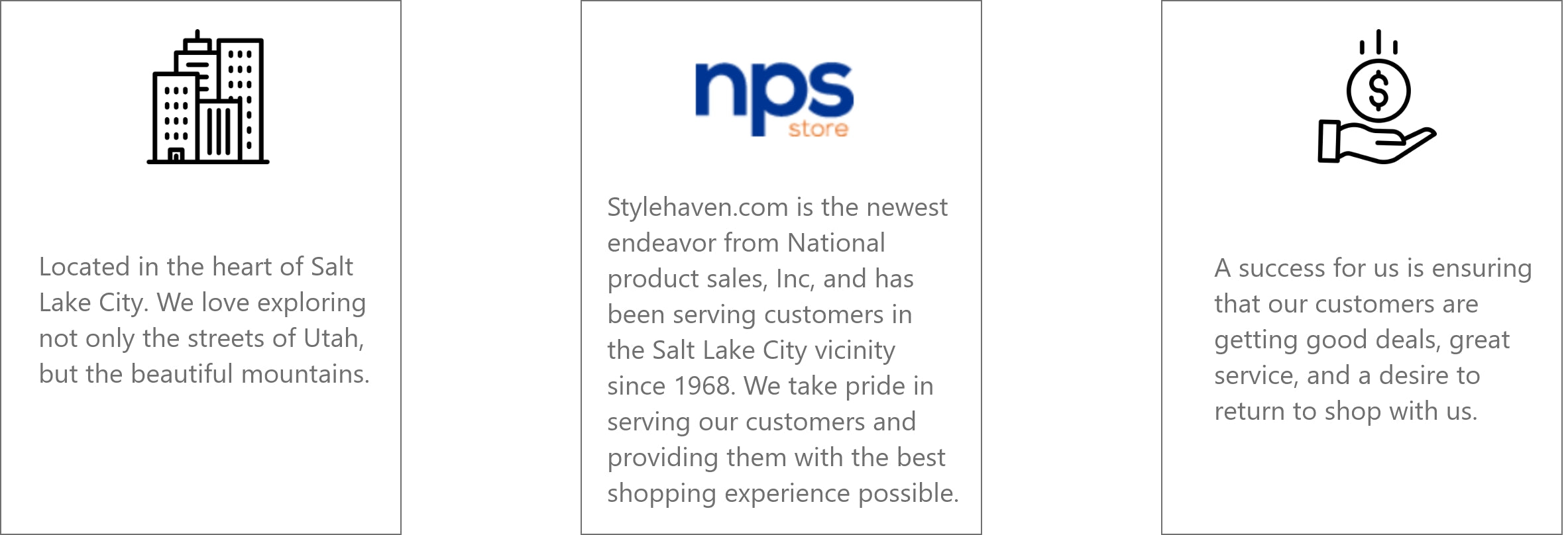 Style Haven is from Salt Lake City. Owned by NPS store. Our Mission is to offer you the best products at the best prices.