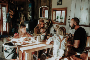 homeschooling around a kitchen table