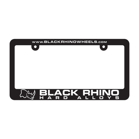 LICENSE PLATE FRAME BLACK RHINO