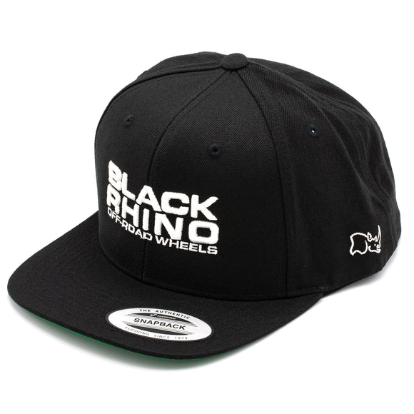 BLACK RHINO HAT BLACK WITH WHITE LOGO