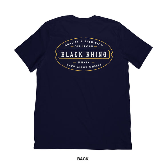 SHIRT - NAVY BLACK RHINO T-SHIRT LINE MEDIUM