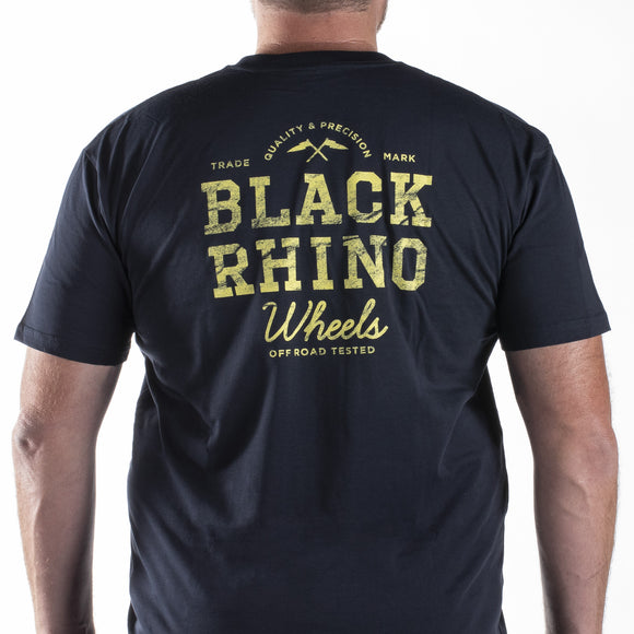 SHIRT - NAVY BLACK RHINO T-SHIRT TEAM 2X-LARGE